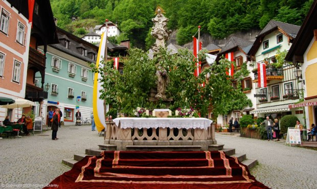 Town Square in Hallstatt, Austria