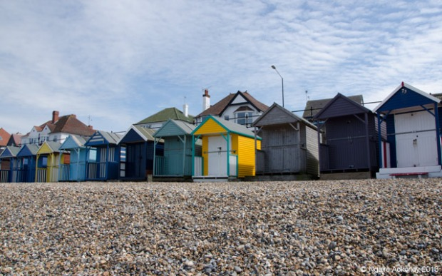 Beach huts at Herne Bay