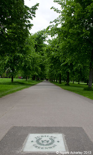 Jubliee Greenway, Kensington Gardens. Copyright Ngaire Ackerley, 2013.