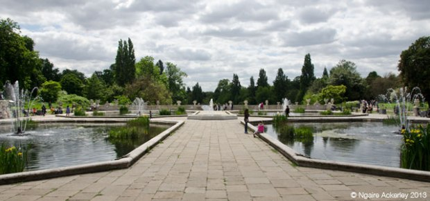 Italian Gardens, Hyde Park, London. Copyright Ngaire Ackerley, 2013