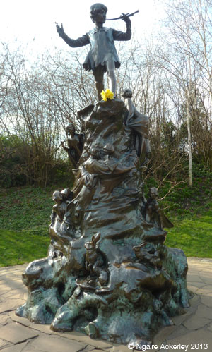 Peter Pan, Hyde Park. Copyright Ngaire Ackerley, 2013