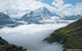 Swiss Alps, near First. Copyright Ngaire Ackerley 2013