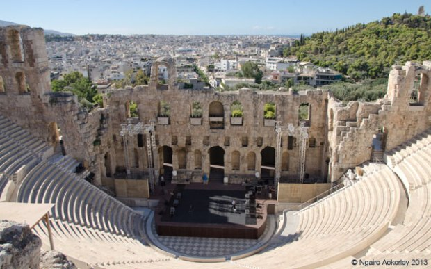 Amphitheater Oden of Herodes Atticus, Acropolis. Athens