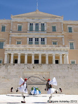 Athens Parliment, changing of the guard