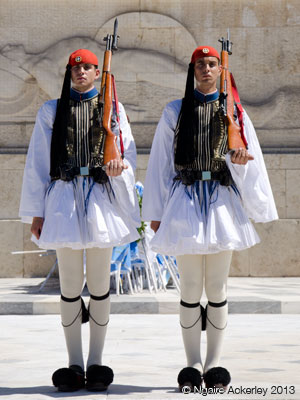 Guards outside Parliment, Athens.