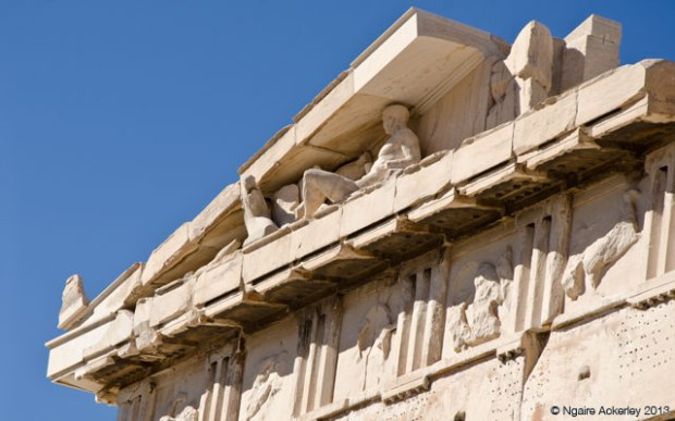Detail in the Parthenon