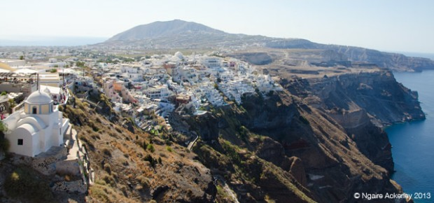 View over Santorini