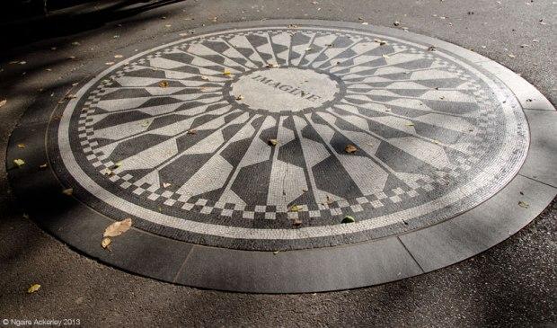 Imagine - the John Lennon memorial