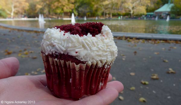Cupcake eaten in Central Park from Crumbs