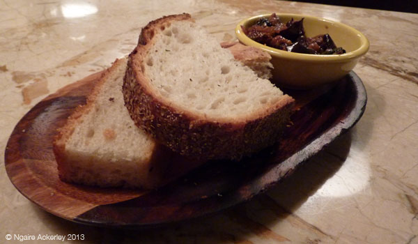 Beautiful bread and amazing Olive chutney