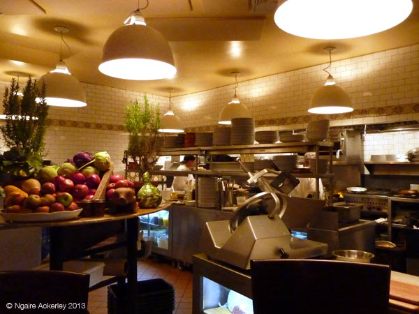 View of the kitchen in Rafele restaurant