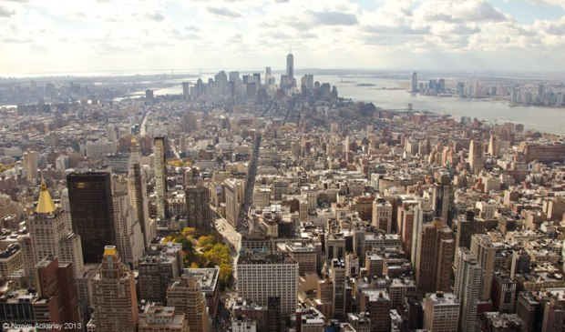 View over Manhattan from the Empire State Building