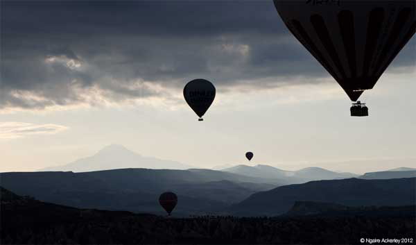 Hot air Ballooning in Cappadocia, Turkey