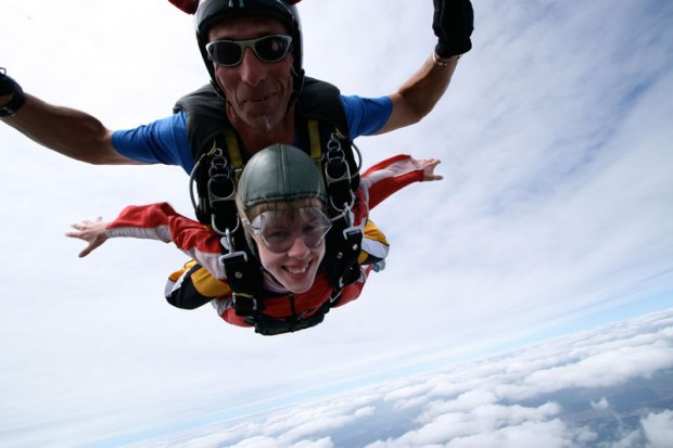Sky diving over Lake Taupo, New Zealand