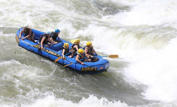 White water rafting on the Nile