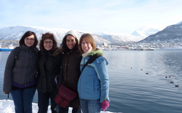An Australian, an Austrian, A Spaniard and Kiwi go to Norway in search of the Northern Lights...