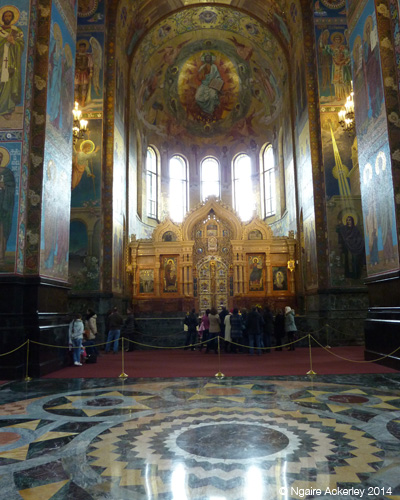 Inside the Church of Our Savior on Spilled Blood