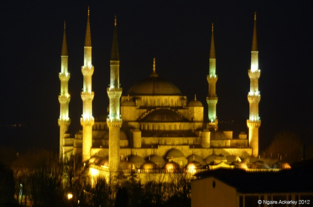 The beautiful Blue Mosque, Istanbul, Turkey