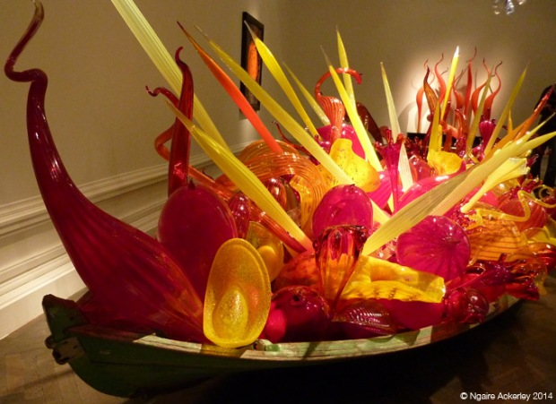 Even a boat filled with hand-blown glass - incredible