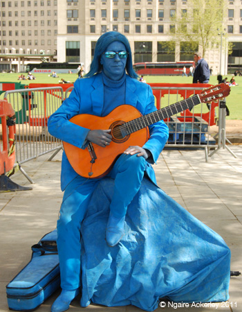 Musical statue, London, UK