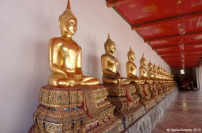 Buddas in a Bangkok Temple