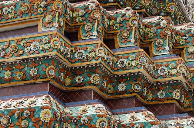 Detail of a temple in Bangkok, Thailand