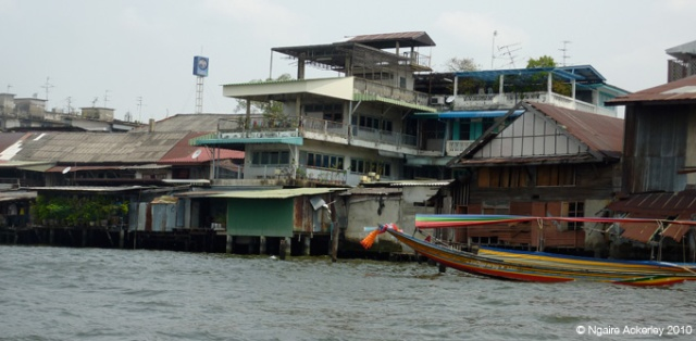 Houses on the water in Bangkok