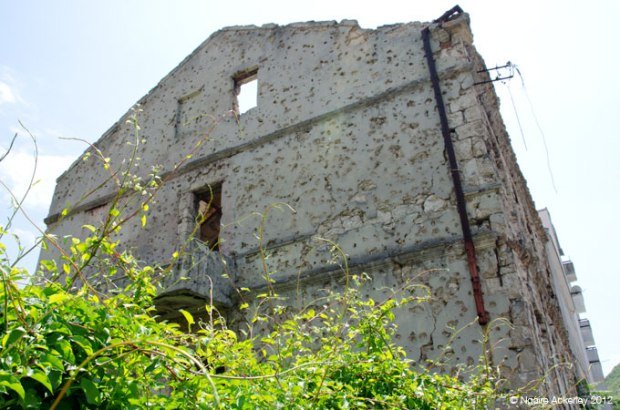 Building in Mostar, damaged by war