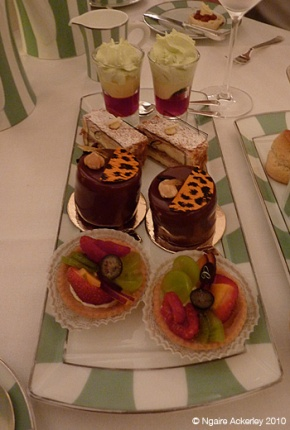 Claridges Hotel afternoon tea sweets back in 2010