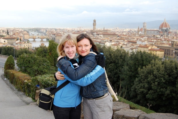 My friend Egle and I in Florence