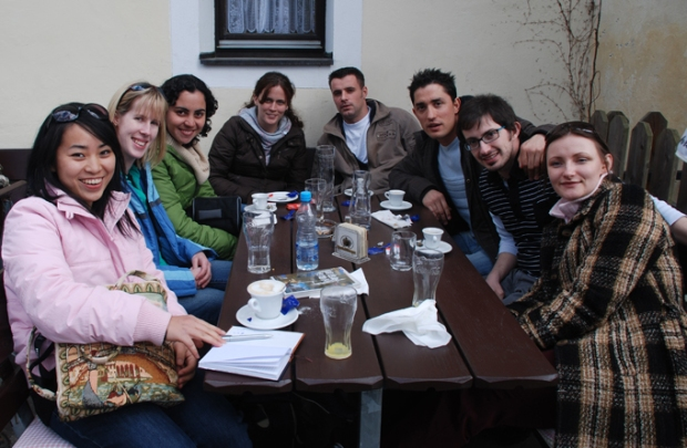 Great much of international Erasmus students on a trip to Innsbruck and Bavaria