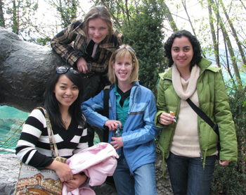 My friends and I at Innsbruck Zoo