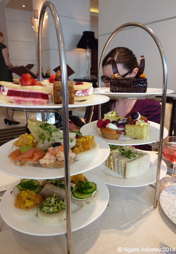 Intercontinental Afternoon tea (my shared one was the back one)