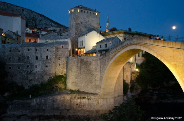 Mostar Old Bridge, night