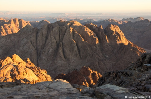 The Sinai Desert, view from Mt. Sinai, Egypt