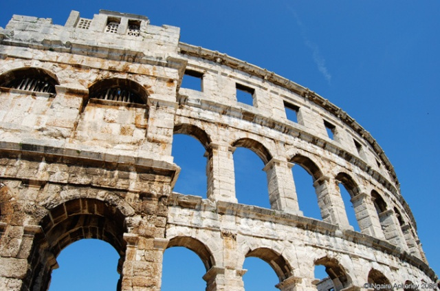 Pula Arena - an amphitheater in Pula, Croatia