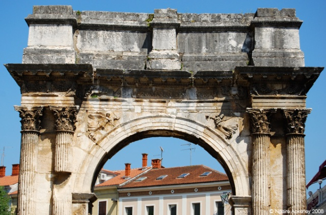 Arch of the Sergii, Roman architecture in Pula, Croatia