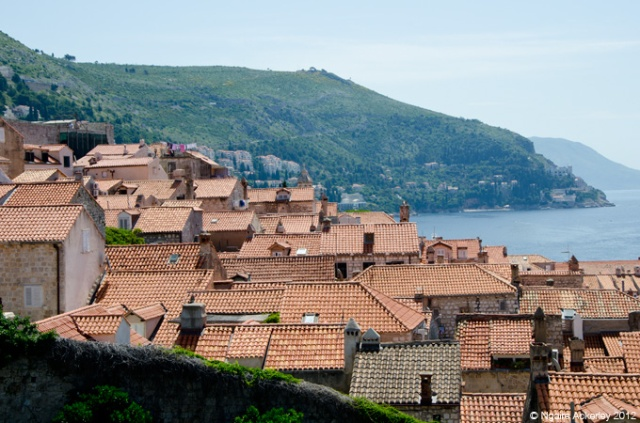 View over the houses in Dubrovnik, Croatia