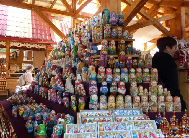Russian Dolls galore at the Izmailovsky Market, Moscow