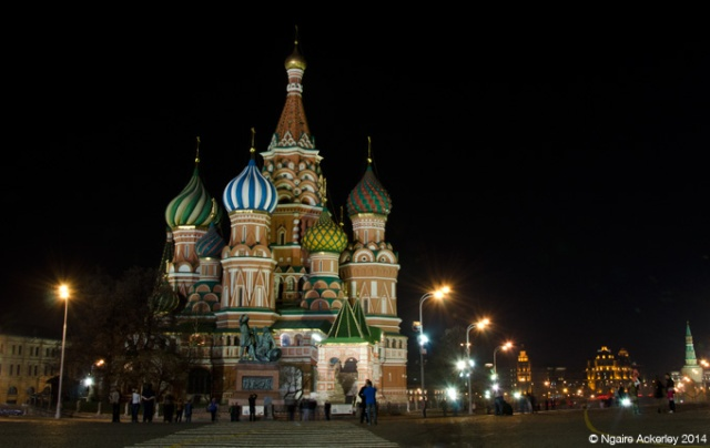 Saint Basil's Cathedral by night, Moscow