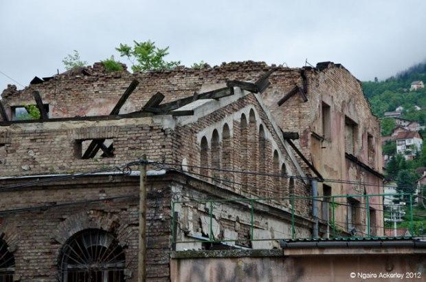 Sarajevo building, damaged by war