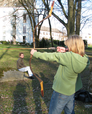 Trying archery on the weekends with some European friends