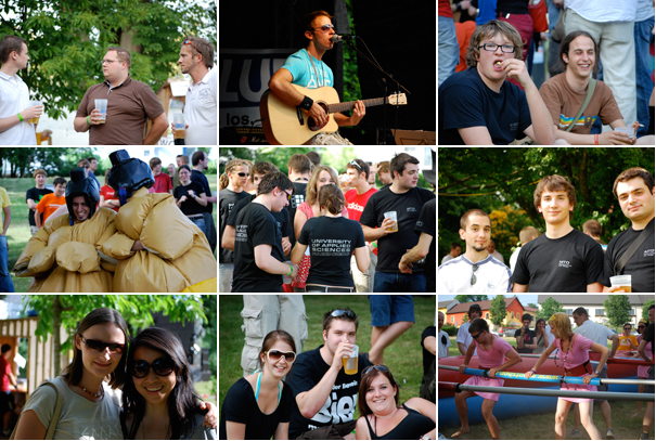 Sommerfest, a student gathering with music, games and beer (I've course)