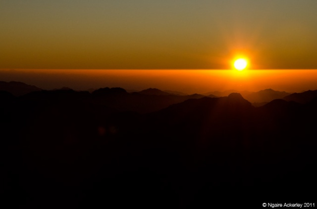 Sunrise from Mt. Sinai, Egypt