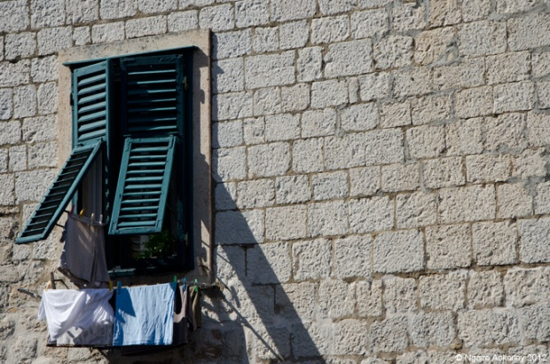 Shutters on a window, Dubrovnik, Croatia
