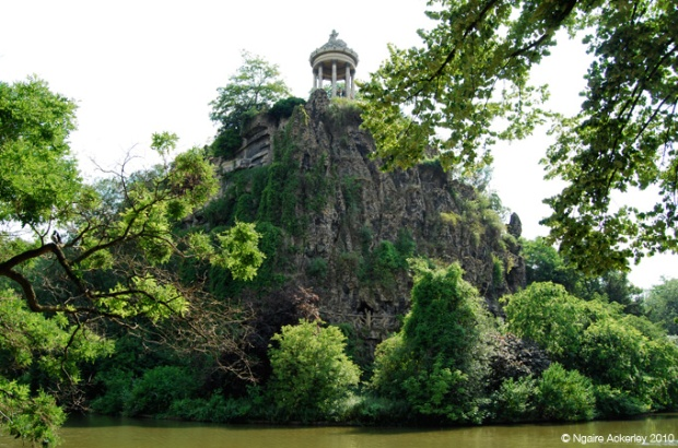 Buttes Chaumont Park, one of the lovely green spaces in Paris