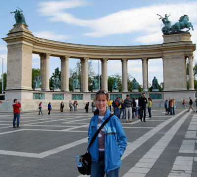 Me standing in 'Heroes Square' Budapest way back in 2008