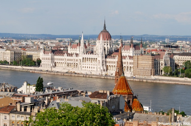 View of Hungary's Parliament from the Buda Castle