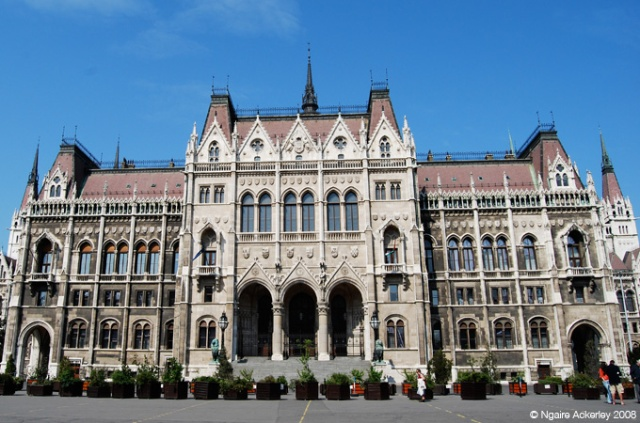 Close view of part of Parliament in Budapest