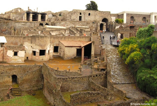 The buried city of Pompeii, Italy